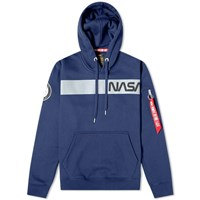 Alpha Industries Nasa Rs Hoody Blue