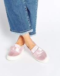 Asos Dark Star Bow Trainers Palepink