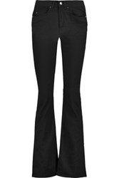 Acne Studios Lita Mid Rise Cotton Blend Twill Flared Jeans Black