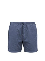 Schnayderman's Garment Dyed Cotton Twill Shorts Blue
