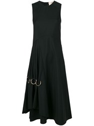 Ports 1961 Ring Detail Flared Dress Black