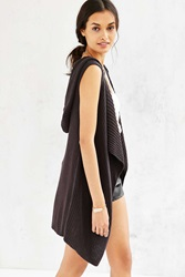 Ecote Draped Vest Cardigan Black