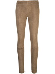The Row Mid Rise Skinny Trousers Green
