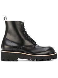 Dsquared2 Brick Boots Men Calf Leather Rubber 42 Black