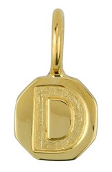 Women's Baroni Stamped Initial Charm Gold D