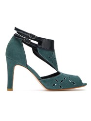Sarah Chofakian Suede Ankle Boot Green