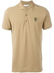 Versace Collection Classic Polo Shirt Brown