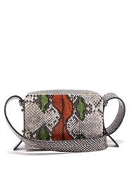 Lutz Morris Maya Snake Effect Leather Cross Body Bag Multi