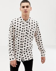 Bellfield Shirt With Large Polka Dot In Pink