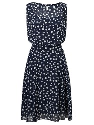 Adrianna Papell Polka Dot Fit And Flare Dress Multi Coloured Multi Coloured