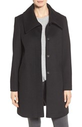 Larry Levine Women's Foldover Collar Walker Coat