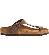 Birkenstock Faux Leather Thong Sandals Brown Moca
