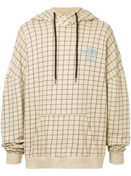 Ex Infinitas Future Surf Pro Checked Hoodie Brown