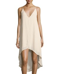 State Of Being Ranger Cami High Low Slip Dress Beige