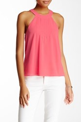 Blvd Sleeveless Halter Blouse Pink