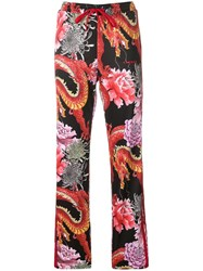 P.A.R.O.S.H. Dragon Print Track Pants Red