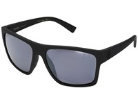 Von Zipper Dipstick Polar Black Satin Wild Silver Flash Polar Plus Sport Sunglasses Blue