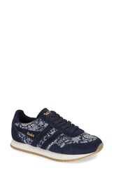 Gola X Liberty Fabrics Collection Bullet Sneaker Navy Off White