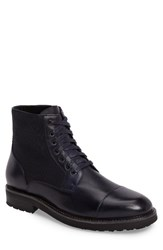 Zanzara Men's 'Northstar' Cap Toe Boot Navy Leather Suede