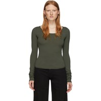Christophe Lemaire Green Second Skin Long Sleeve Pullover