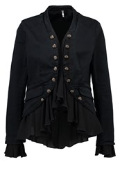 Free People Romance Blazer Black