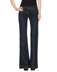 Alysi Denim Denim Trousers Women Blue