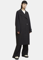 Yang Li Contrast Sleeve Trench Coat Black