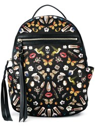 Alexander Mcqueen 'Obsession' Backpack Black