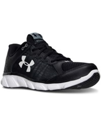 Under Armour Men's Micro G Assert 6 2E Wide Running Sneakers From Finish Line Black White White