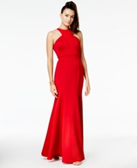 As U Wish Juniors' Halter Gown A Macy's Exclusive Style Red