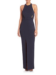 Nicholas Band Inset Gown Tangerine
