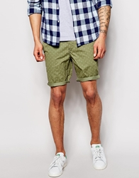 Timberland Shorts With Ditsy Print Green