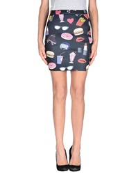 American Retro Mini Skirts Black