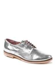 Ted Baker Loomi Leather Oxfords Silver