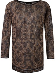 Cecilia Prado Long Sleeve Knitted Blouse Brown