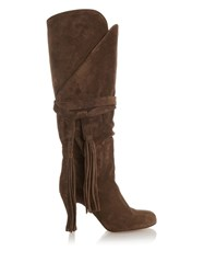 Chloe Military Suede Wrap Boots