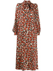 Essentiel Antwerp Giraffe Print Silk Dress 60