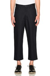 Junya Watanabe Cotton Twill Trousers In Blue