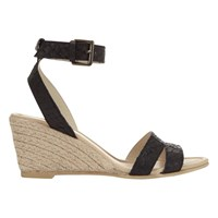 Mint Velvet Flo Wedge Heeled Sandals Black