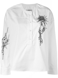 Carven Embroidered Shirt Women Cotton 36 White