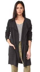 James Perse Thermal Stitch Cashmere Cardigan Anthracite