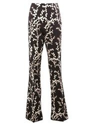 Giambattista Valli Floral Flared Trousers Black