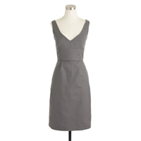 J.Crew Petite Karlie Dress In Cotton Cady Graphite