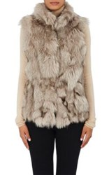 Barneys New York Women's Fur Vest Grey