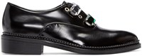 Toga Pulla Black Rhinestone Oxfords