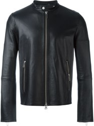 Paolo Pecora Zipped Up Jacket Black