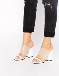 Asos Hold It Mules White