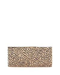 Joyce Leopard Print Calf Hair Evening Clutch Bag Badgley Mischka