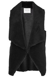 Velvet Zealand Reversible Faux Shearling Gilet Black