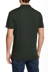 7 For All Mankind Raw Placket Polo Blue